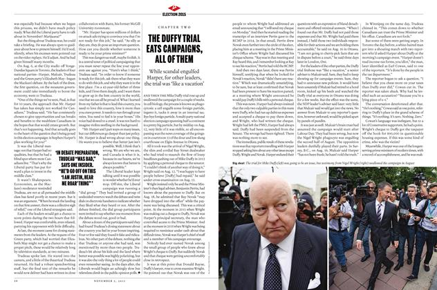 Article Preview: THE DUFFY TRIAL EATS CAMPAIGNS, ALL OF THEM, November 2015 | Maclean's