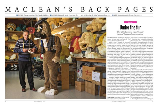 Article Preview: Under the fur, November 2015 | Maclean's