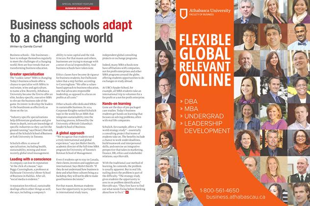 Article Preview: Business schools adapt to a changing world, November 2015 | Maclean's