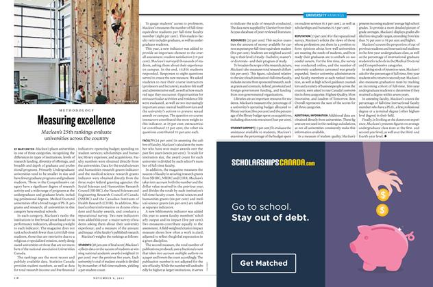 Article Preview: Measuring excellence, November 9 2015 | Maclean's