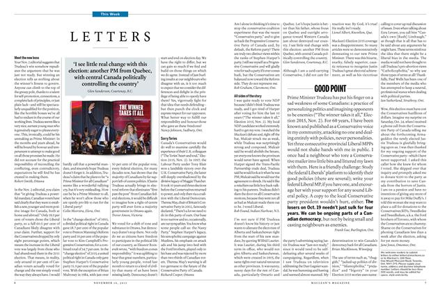 Article Preview: LETTERS, November 16 2015 | Maclean's