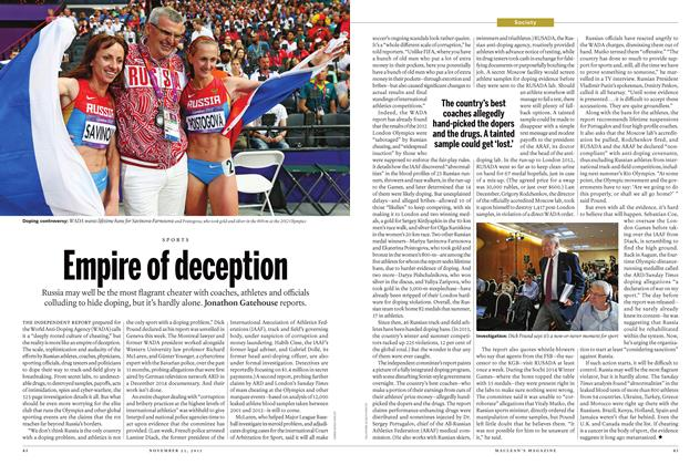 Article Preview: Empire of deception, November 23 2015 | Maclean's