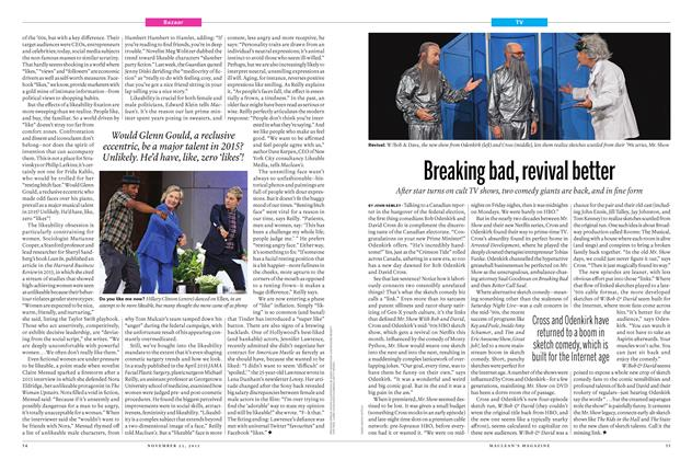 Article Preview: Breaking bad, revival better, November 23 2015 | Maclean's