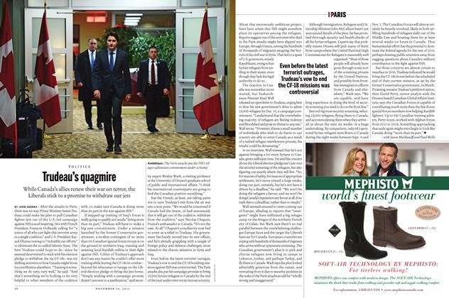 Article Preview: Trudeau's quagmire, November 30 2015 | Maclean's