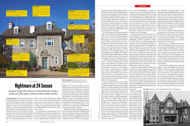 Article Preview: Nightmare at 24 Sussex, November 30 2015 | Maclean's