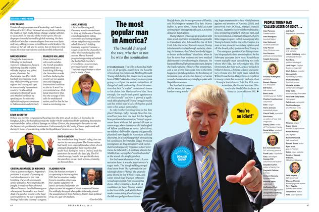 Article Preview: The most popular man in America?, December 7 2015 | Maclean's