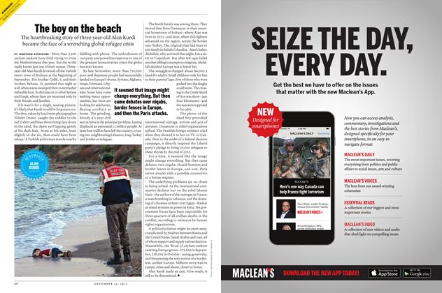 Article Preview: The boy on the beach, December 7 2015 | Maclean's