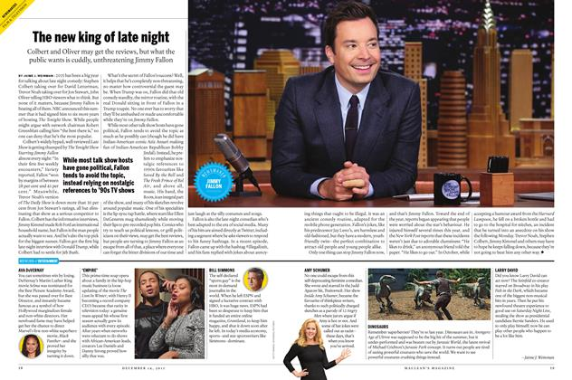 Article Preview: The new king of late night, December 7 2015 | Maclean's
