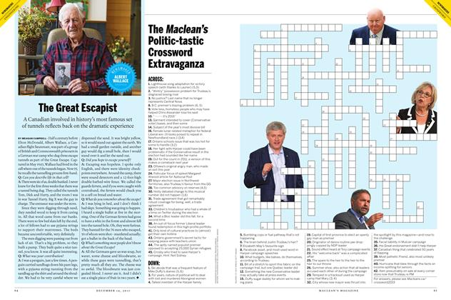 Article Preview: The Great Escapist, December 7 2015 | Maclean's