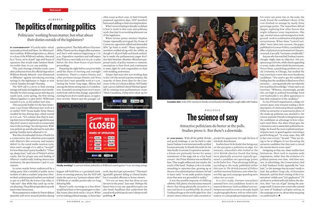 Article Preview: The politics of morning politics, December 2015 | Maclean's