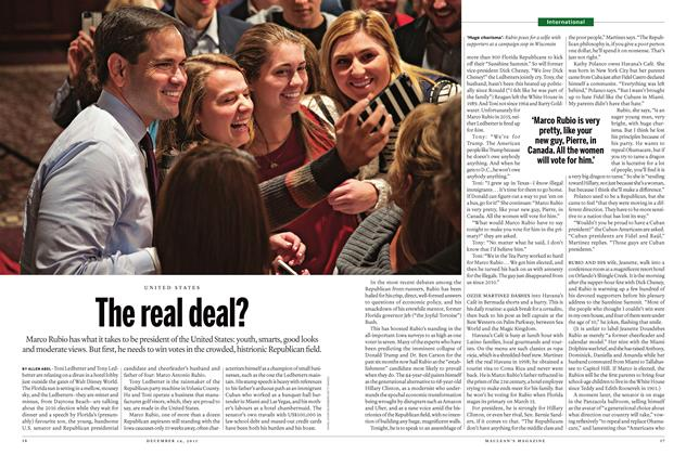 Article Preview: The real deal?, December 7 2015 | Maclean's