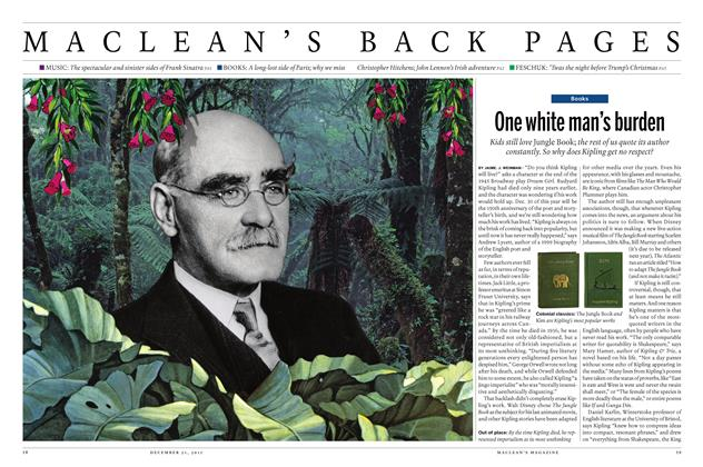 Article Preview: One white man's burden, December 21 2015 | Maclean's