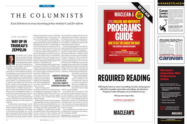 Article Preview: THE COLUMNISTS, December 21 2015 | Maclean's