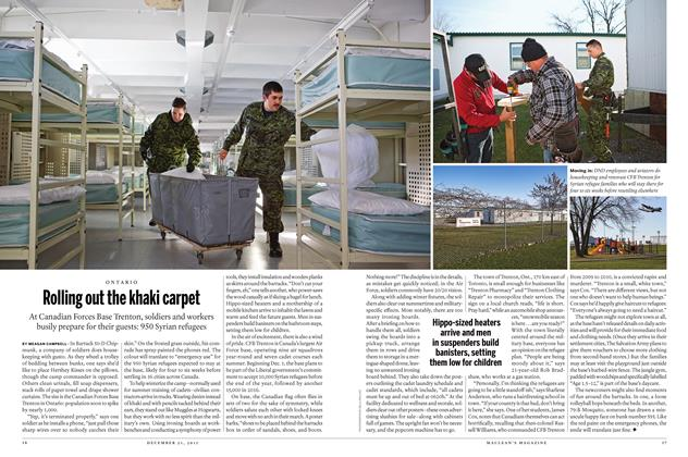 Article Preview: Rolling out the khaki carpet, December 21 2015 | Maclean's
