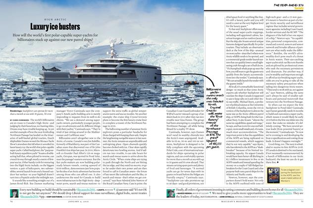 Article Preview: Luxury ice busters, JANUARY 4 2015 | Maclean's