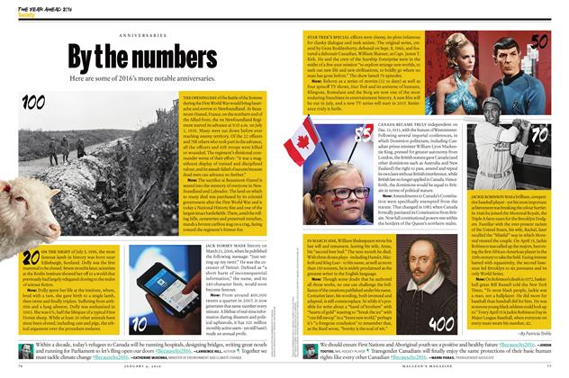 Article Preview: By the numbers, JANUARY 4 2015 | Maclean's