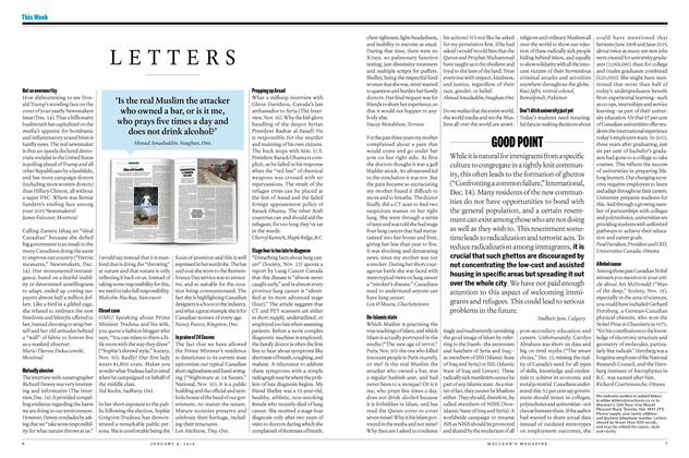 Article Preview: LETTERS, JANUARY 4 2015 | Maclean's
