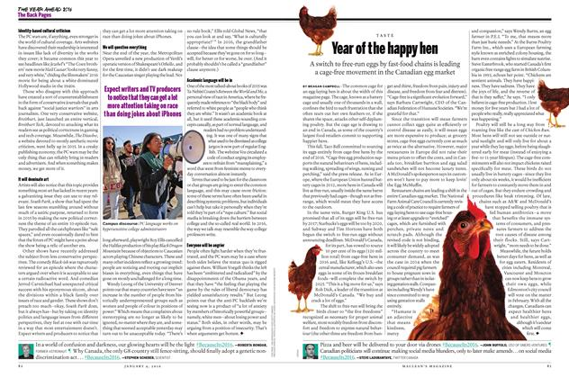 Article Preview: Year of the happy hen, JANUARY 4,2016 2015 | Maclean's