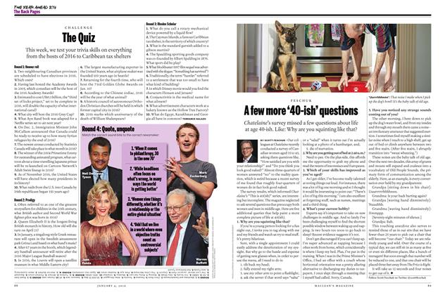 Article Preview: A few more '40-ish' questions, JANUARY 4 2015 | Maclean's