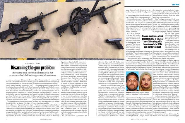 Article Preview: Disarming the gun problem, JANUARY 4 2015 | Maclean's
