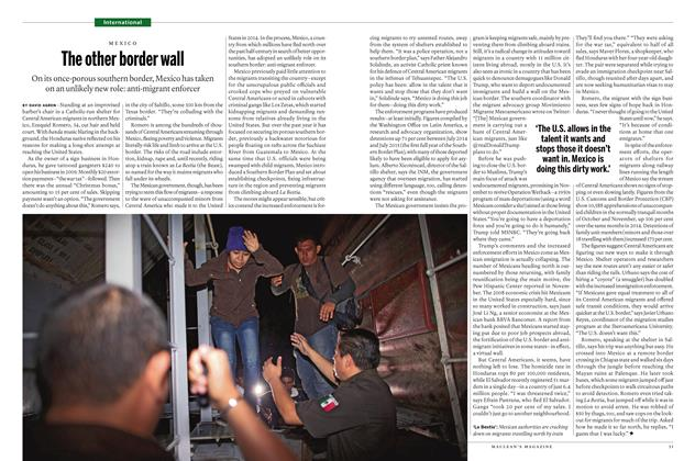 Article Preview: The other border wall, January 11 2016 | Maclean's