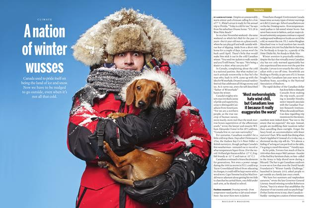 Article Preview: A nation of winter wusses, January 11 2016 | Maclean's