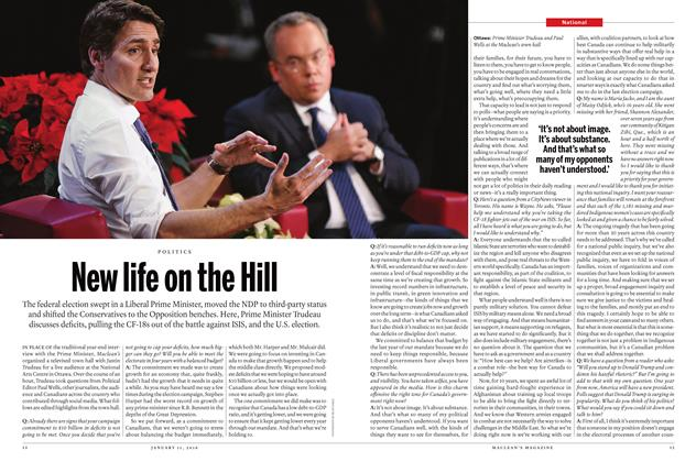 Article Preview: New life on the Hill, January 11 2016 | Maclean's