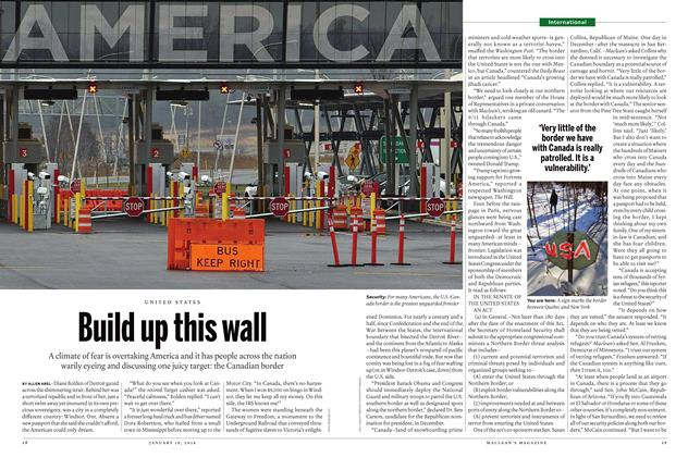 Article Preview: Build up this wall, January 18 2016 | Maclean's