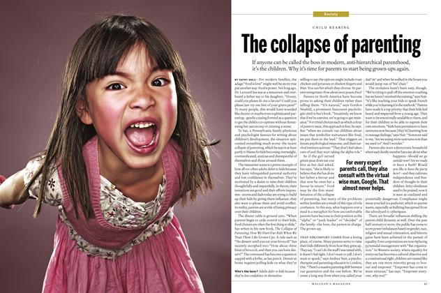 Article Preview: The collapse of parenting, January 18 2016 | Maclean's