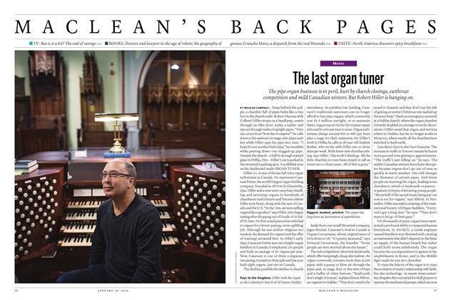 Article Preview: The last organ tuner, January 18 2016 | Maclean's