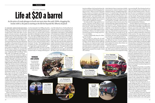 Article Preview: Life at $20 a barrel, January 28 2016 | Maclean's