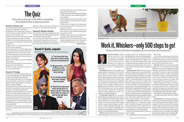 Article Preview: Work it, Whiskers-only 500 steps to go!, January 28 2016 | Maclean's