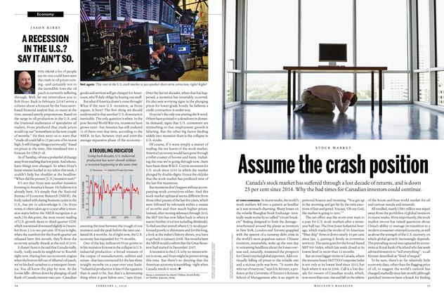 Article Preview: Assume the crash position, February 1 2016 | Maclean's