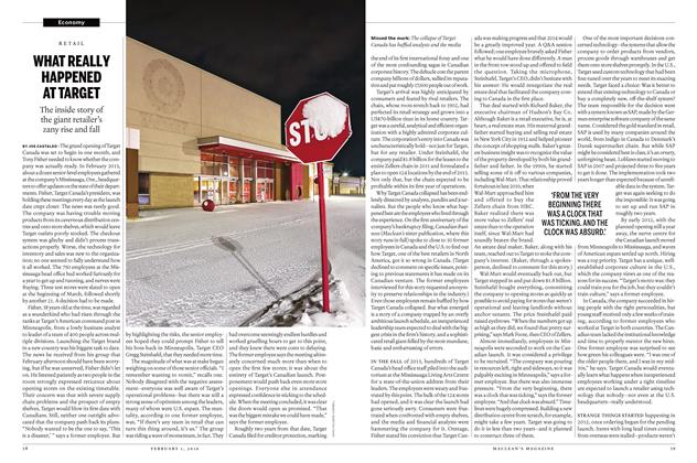 Article Preview: WHAT REALLY HAPPENED AT TARGET, February 1 2016 | Maclean's