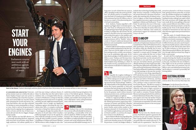Article Preview: START YOUR ENGINES, February 1 2016 | Maclean's