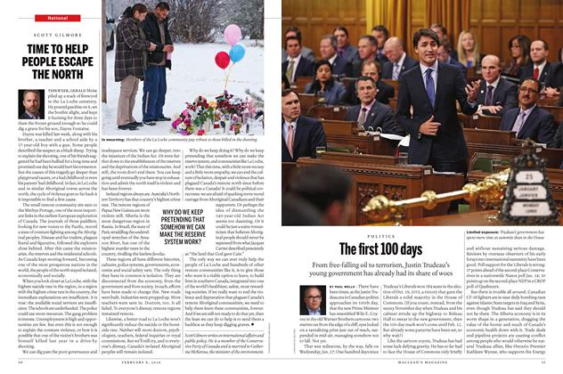 Article Preview: The first 100 days, February 8 2016 | Maclean's