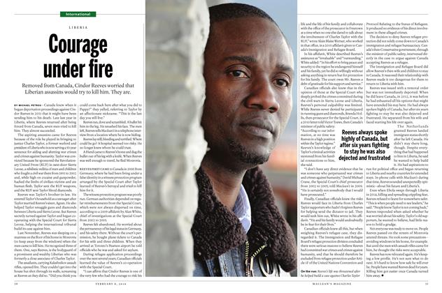 Article Preview: Courage under fire, February 8 2016 | Maclean's