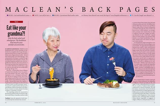 Article Preview: Eat like your grandma?!, February 8 2016 | Maclean's