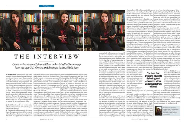 Article Preview: THE INTERVIEW, February 8 2016 | Maclean's
