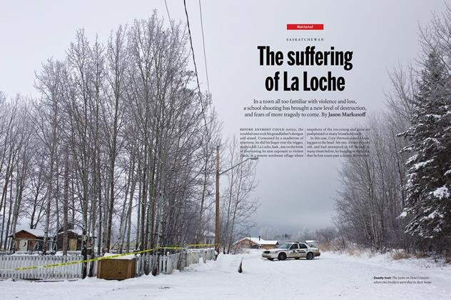 Article Preview: The suffering of La Loche, February 8 2016 | Maclean's
