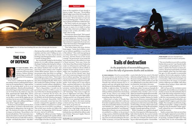 Article Preview: Trails of destruction, February 15 2016 | Maclean's