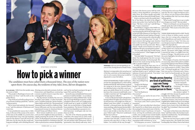 Article Preview: How to pick a winner, February 15 2016 | Maclean's