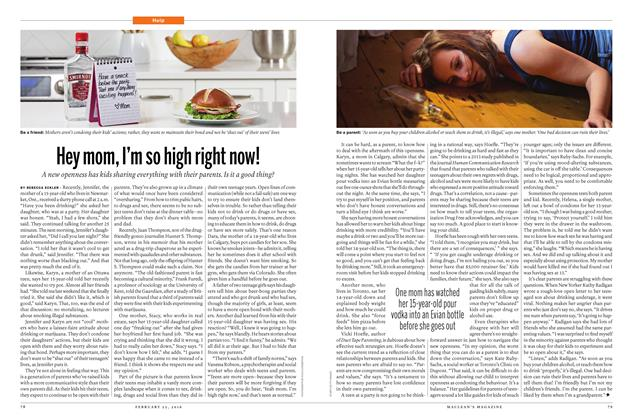 Article Preview: Hey mom, I'm so high right now!, February 15 2016 | Maclean's