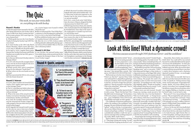 Article Preview: The Quiz, February 15 2016 | Maclean's