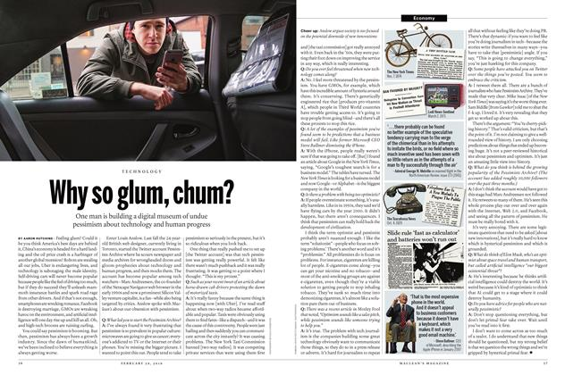 Article Preview: Why so glum, chum?, February 29 2016 | Maclean's