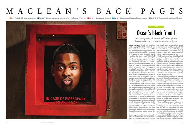 Article Preview: Oscar's black friend, February 29 2016 | Maclean's