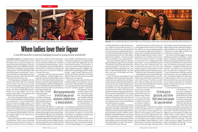 Article Preview: When ladies love their liquor, February 29 2016 | Maclean's