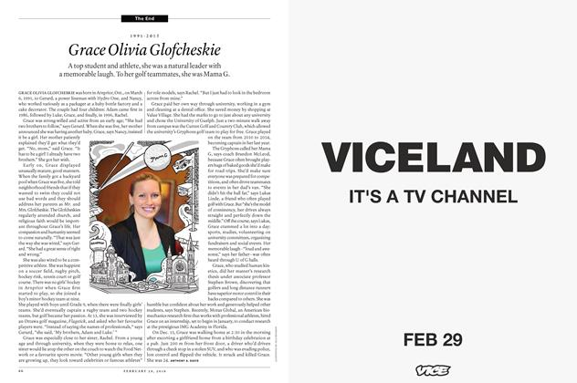 Article Preview: 1991-2015 Grace Olivia Glofcheskie, February 29 2016 | Maclean's