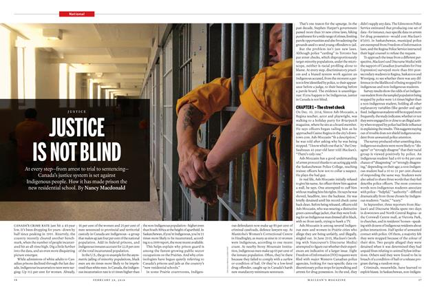 Article Preview: JUSTICE IS NOT BLIND, February 29 2016 | Maclean's