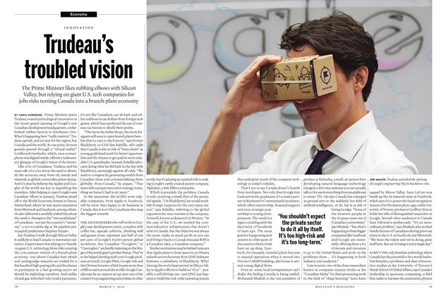 Article Preview: Trudeau's troubled vision, March 7 2016 | Maclean's